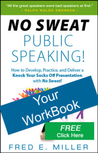 "FREE ""NO SWEAT Public Speaking!"" Workbook"